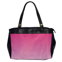 French Rose To Piggy Pink Gradient Oversize Office Handbag (one Side)