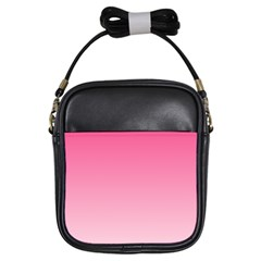 French Rose To Piggy Pink Gradient Girl s Sling Bag