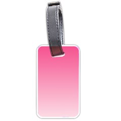 French Rose To Piggy Pink Gradient Luggage Tag (one Side)