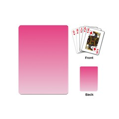 French Rose To Piggy Pink Gradient Playing Cards (mini)