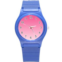 French Rose To Piggy Pink Gradient Plastic Sport Watch (Small)