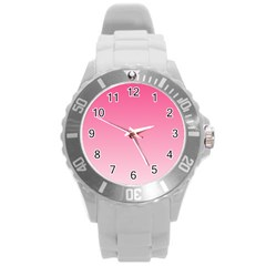 French Rose To Piggy Pink Gradient Plastic Sport Watch (large)