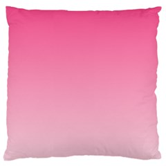 French Rose To Piggy Pink Gradient Large Cushion Case (one Side)