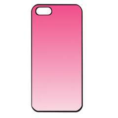 French Rose To Piggy Pink Gradient Apple Iphone 5 Seamless Case (black)