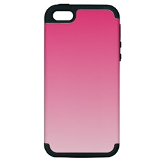 French Rose To Piggy Pink Gradient Apple iPhone 5 Hardshell Case (PC+Silicone)