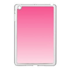 French Rose To Piggy Pink Gradient Apple iPad Mini Case (White)
