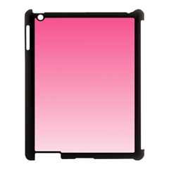 French Rose To Piggy Pink Gradient Apple iPad 3/4 Case (Black)