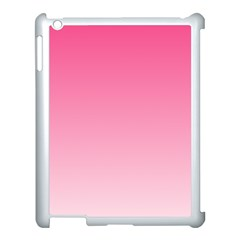 French Rose To Piggy Pink Gradient Apple Ipad 3/4 Case (white)