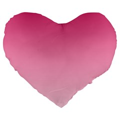 French Rose To Piggy Pink Gradient 19  Premium Heart Shape Cushion