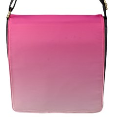 French Rose To Piggy Pink Gradient Flap closure messenger bag (Small)