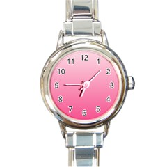 Piggy Pink To French Rose Gradient Round Italian Charm Watch