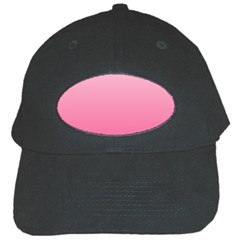 Piggy Pink To French Rose Gradient Black Baseball Cap
