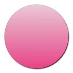 Piggy Pink To French Rose Gradient 8  Mouse Pad (Round)