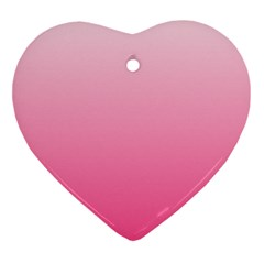 Piggy Pink To French Rose Gradient Heart Ornament