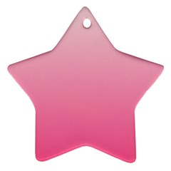 Piggy Pink To French Rose Gradient Star Ornament