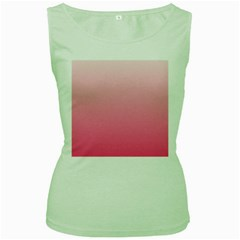 Piggy Pink To French Rose Gradient Womens  Tank Top (Green)