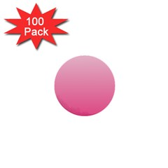 Piggy Pink To French Rose Gradient 1  Mini Button (100 Pack)