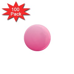 Piggy Pink To French Rose Gradient 1  Mini Button Magnet (100 pack)