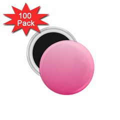 Piggy Pink To French Rose Gradient 1.75  Button Magnet (100 pack)