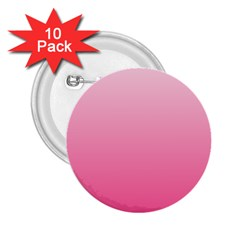 Piggy Pink To French Rose Gradient 2.25  Button (10 pack)