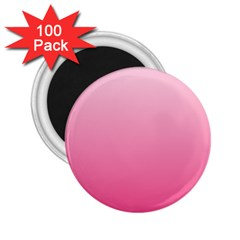 Piggy Pink To French Rose Gradient 2.25  Button Magnet (100 pack)