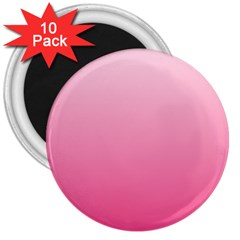 Piggy Pink To French Rose Gradient 3  Button Magnet (10 pack)