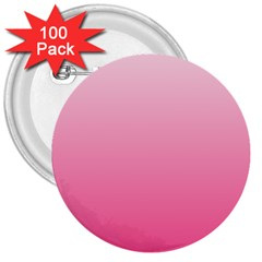 Piggy Pink To French Rose Gradient 3  Button (100 pack)