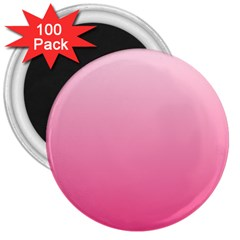 Piggy Pink To French Rose Gradient 3  Button Magnet (100 pack)