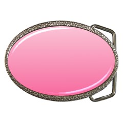 Piggy Pink To French Rose Gradient Belt Buckle (oval)