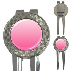 Piggy Pink To French Rose Gradient Golf Pitchfork & Ball Marker