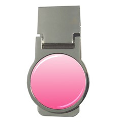 Piggy Pink To French Rose Gradient Money Clip (round)