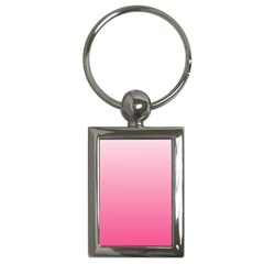 Piggy Pink To French Rose Gradient Key Chain (rectangle)