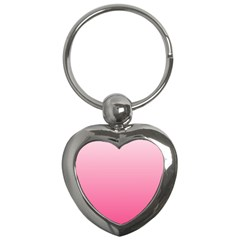 Piggy Pink To French Rose Gradient Key Chain (Heart)