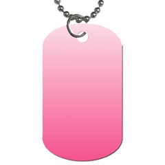 Piggy Pink To French Rose Gradient Dog Tag (Two Sided)