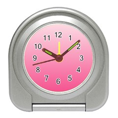 Piggy Pink To French Rose Gradient Desk Alarm Clock