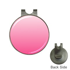 Piggy Pink To French Rose Gradient Hat Clip With Golf Ball Marker