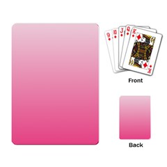 Piggy Pink To French Rose Gradient Playing Cards Single Design