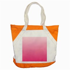 Piggy Pink To French Rose Gradient Accent Tote Bag