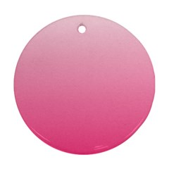 Piggy Pink To French Rose Gradient Round Ornament (two Sides)