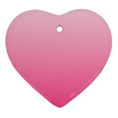 Piggy Pink To French Rose Gradient Heart Ornament (Two Sides)