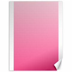 Piggy Pink To French Rose Gradient Canvas 18  X 24  (unframed)