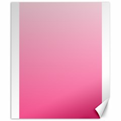Piggy Pink To French Rose Gradient Canvas 20  X 24  (unframed)