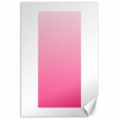 Piggy Pink To French Rose Gradient Canvas 24  x 36  (Unframed)