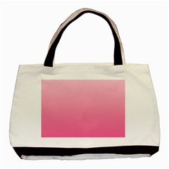Piggy Pink To French Rose Gradient Twin Sided Black Tote Bag