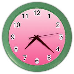 Piggy Pink To French Rose Gradient Wall Clock (Color)