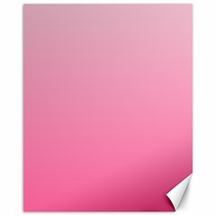 Piggy Pink To French Rose Gradient Canvas 11  X 14  9 (unframed)