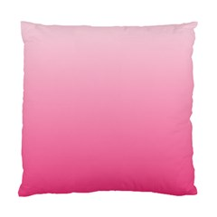 Piggy Pink To French Rose Gradient Cushion Case (two Sides)