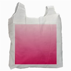 Piggy Pink To French Rose Gradient Recycle Bag (one Side)