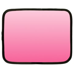 Piggy Pink To French Rose Gradient Netbook Case (xl)