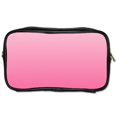 Piggy Pink To French Rose Gradient Travel Toiletry Bag (two Sides)